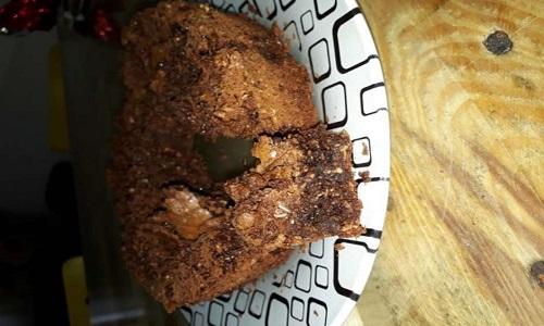 Brownie de chocolate com coco
