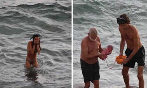 Mulher dá à luz no Mar vermelho