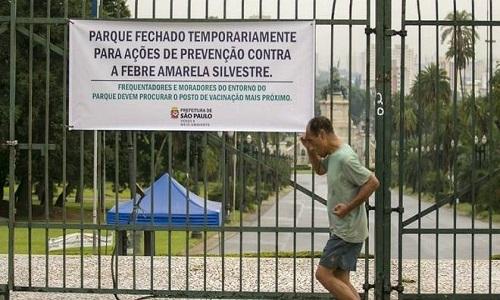 Parque da Independência é fechado por causa da febre amarela em SP