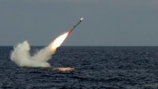 Os Estados Unidos lideraram ataque com mísseis contra a Síria
