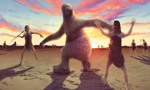 Preguiças gigantes era perseguido por humanos