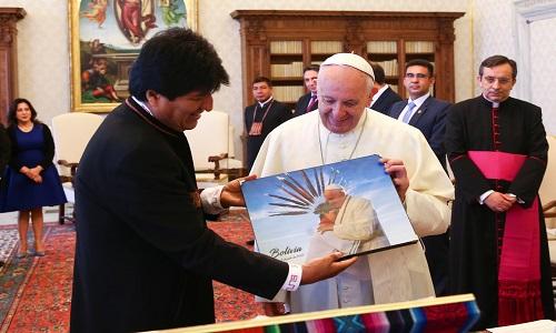 Papa Francisco recebe Evo Morales