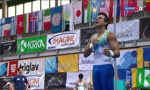 Gustavo Polato fatura bronze em etapa eslovena da Copa do Mundo de Ginástica