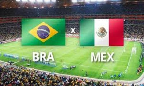 Brasil e México se enfrentam na próxima segunda-feira