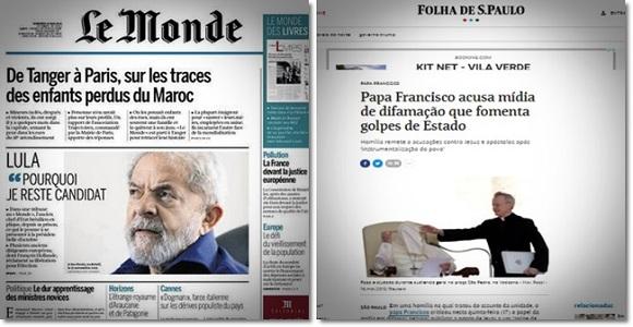 O dia em que a mídia quis esconder Lula e o Papa Francisco