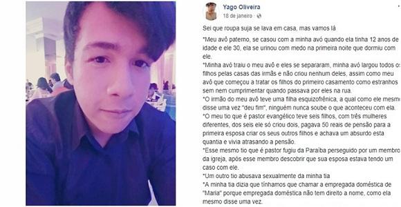 Jovem gay publica desabafo sobre a família antes de cometer suicídio