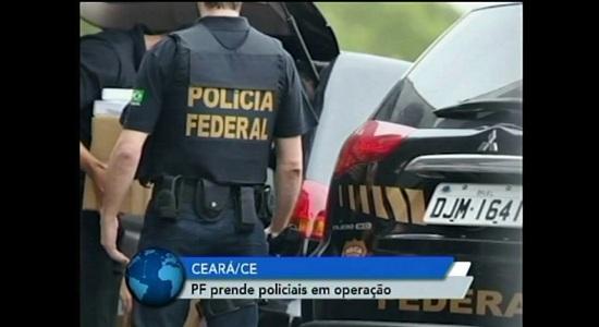 PF prende 11 policiais civis em ação contra tráfico de drogas no Ceará