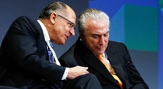 A promessa de Alckmin é livrar Temer da cadeia