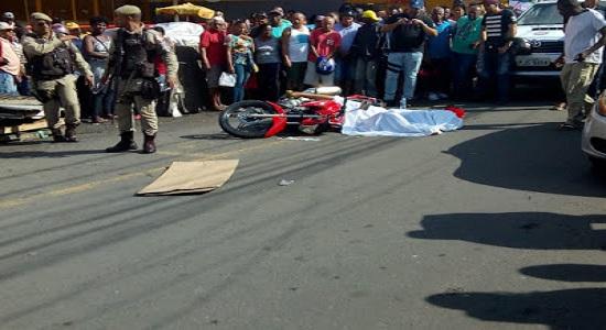Rua Marechal Deodoro no centro de Feira de Santana se transforma em cenário e morte