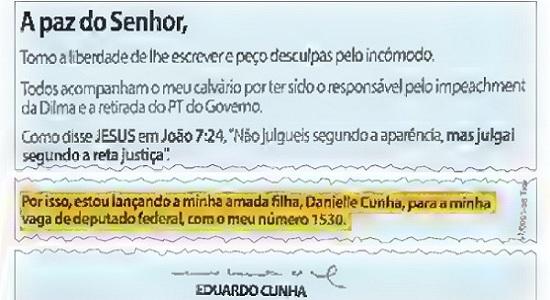 Cunha, o herói do impeachment, arma a filha contra Malafaia