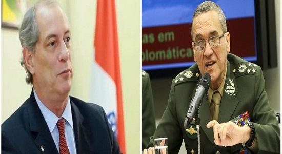 UMA POSIÇÃO FORTE: CIRO DIZ QUE DEMITIRIA E PRENDERIA O GENERAL EDUARDO VILLAS BÔAS
