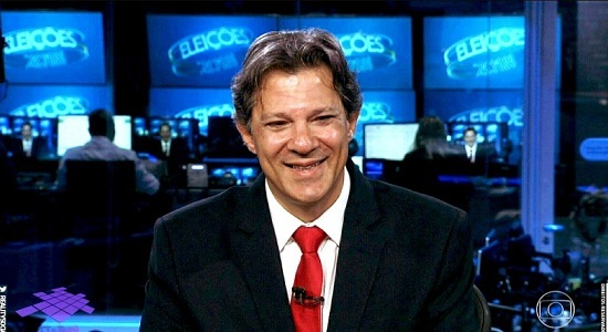 "Haddad no Jornal Nacional: ""Boa noite, presidente Lula"""