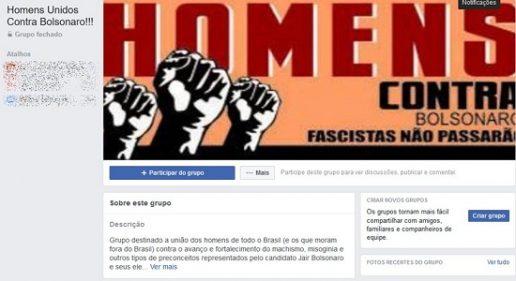 Homens criam grupo contra Bolsonaro
