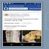 Bandidos usam a internet para vender dinheiro falso