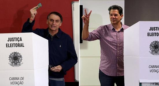 Pesquisa Data Folha/Globo/Folha de São Paulo Bolsonaro atinge 58% e Hahhad amplia para 42%