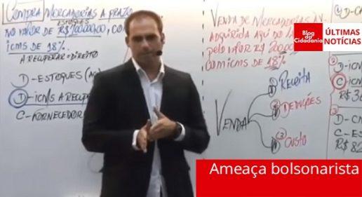 Jurista analisa ameaça de filho de Bolsonaro ao Judiciário