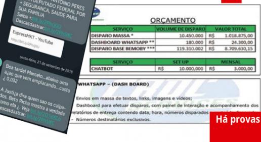 Documentos comprovam prática ilegal de empresa contratada por Bolsonaro