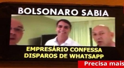 Vídeo mostra empresários e Bolsonaro combinando envio de fake news