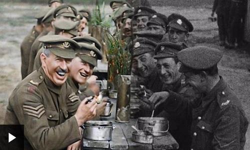 Diretor vencedor do Oscar deu cor a emocionantes imagens da 1ª Guerra
