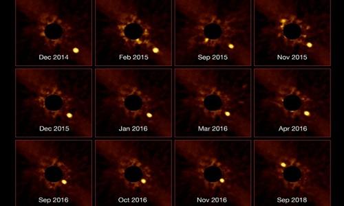Planeta orbitando em torno de outra estrela é captado