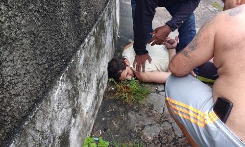 O suspeito de matar sua ex-mulher no Rio foi pego  por familiares da vítima