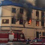 Um Incêndio atingiu  prédio na região da Rua 25 de Março, no  centro de SP