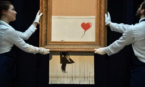 Uma obra que foi autodestruída de Banksy será exposta na Alemanha