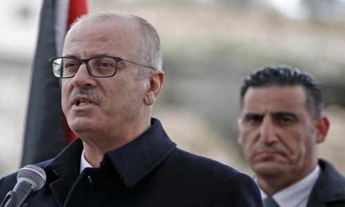 O Primeiro ministro palestino apresentou pedido de  demissão de seu governo