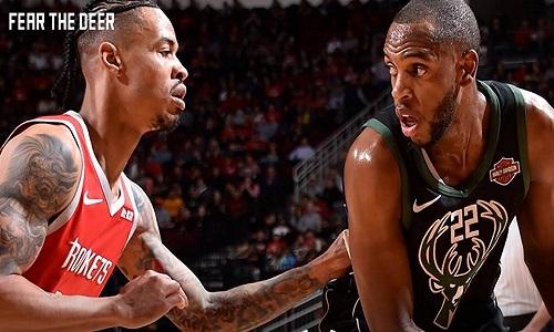Em um duelo de candidatos a MVP, Bucks superou  Rockets fora de casa na NBA