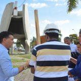 A Prefeitura de Feira de Santana  deu  inicio  as obras de manutenção do monumento aos  caminhoneiros