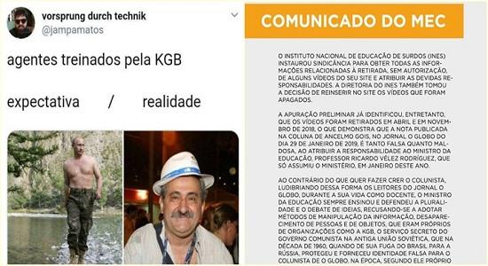 Nota do MEC diz que jornalista brasileiro é ligado a KGB e vira piada nas redes