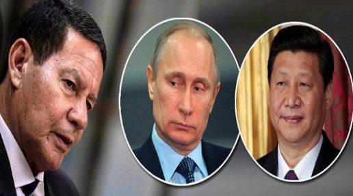 COM BOLSONARO SUBMISSO A TRUMP, MOURÃO ASSUME RELAÇÃO COM RÚSSIA E CHINA