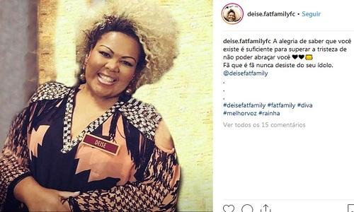 Morreu  em São Paulo  a Cantora Deise Cipriano, do Fat Family,
