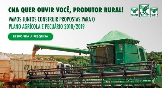 Propostas do produtor rural para o plano agrícola e pecuário