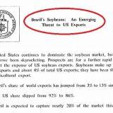 Os agro-otários: vejam o documento da CIA sobre a soja brasileira