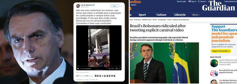 MAIOR JORNAL INGLÊS APONTA COMO BOLSONARO RIDICULARIZOU O BRASIL