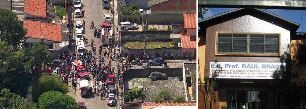 Adolescentes atiram dentro de escola e matam 8  pessoas.