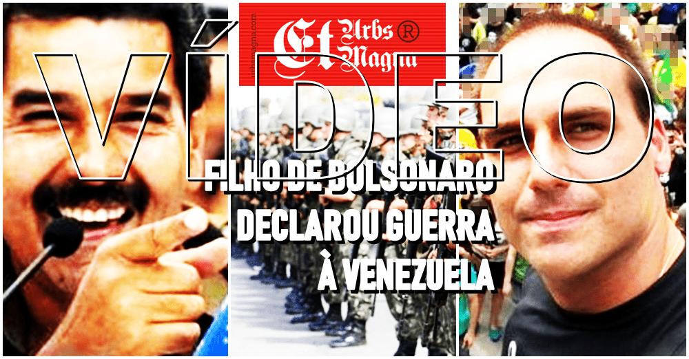 Eduardo Bolsonaro: é necessário o uso da força na Venezuela