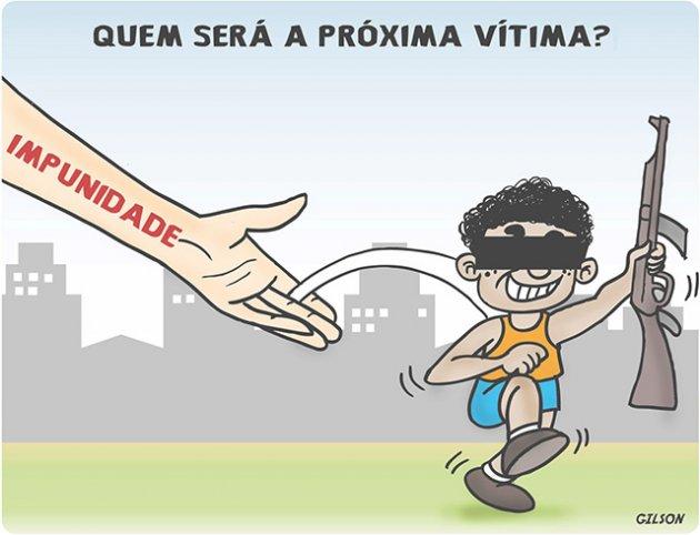 O paraíso brasileiro também produz bandidos em escala industrial.