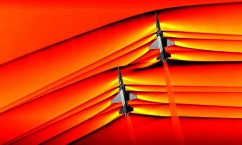 Nasa capta pela primeira vez imagens de ondas de choque de aviões supersônicos