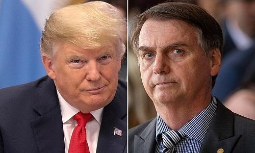 Bolsonaro será recebido por Trump em 19 de março.