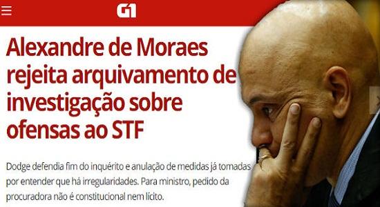 Ministro Moraes desautoriza Dodge e diz que inquérito vai seguir