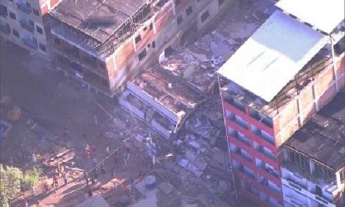 Sobe o número de mortos no desabamento de edifício no Rio de Janeiro
