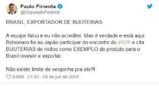 O vexame de Bolsonaro no G20, o vendedor de bijuteria: mentira e puxa-saquismo