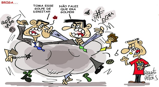 Canalhada direitista se desentendeu durante ato fascista pró Bolsonaro/ por Sérgio Jones*