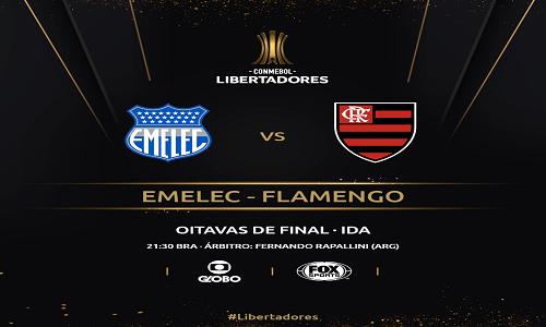 Flamengo encara o Emelec pelas oitavas da Libertadores nesta quarta-feira