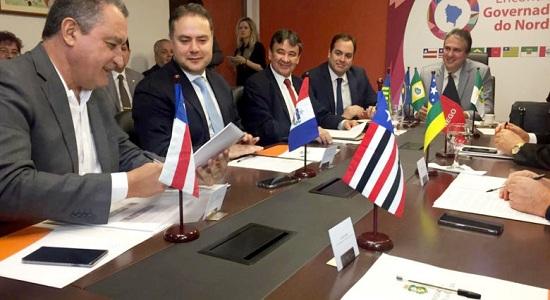 Nesta segunda-feira se reúnem em Salvador nove governadores do Nordeste