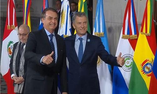 Bolsonaro chega ao encontro dos líderes do Mercosul