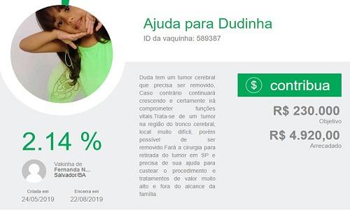 Família de menina de 6 anos com tumor no cérebro e hidrocefalia tenta arrecadar R$ 230 mil para cirurgia
