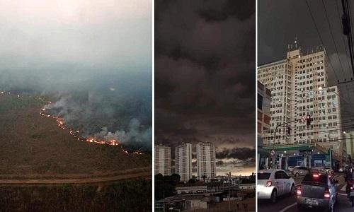 Devastação e queimadas de Bolsonaro cobriram o Sudeste de fuligem e trevas